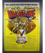 1978 Valvoline Motor Oil Ad - Ticket to Super Sunday - $14.99