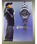2003 Tag Heuer Link Automatic Watch Ad - Tiger Woods - $14.99