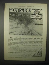 1911 McCormick Sham-Rock Waterproof Portland Cement Ad - $14.99