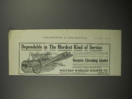 1911 Western Wheeled Scraper Co. Elevating Grader Ad - $14.99