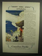 1928 Canadian Pacific Cruise Ad - Orient, India, Africa - $14.99