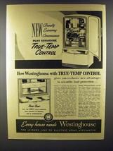 1941 Westinghouse Refrigerator Ad - Beauty Economy - $14.99