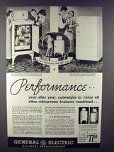 1935 General Electric Refrigerator Ad - Performance - $14.99