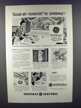 1948 General Electric Garbage Disposall Ad - Good-by! - $14.99