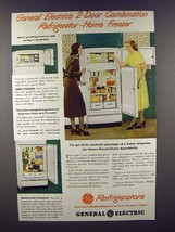 1948 G.E. Combination Refrigerator-Home Freezer Ad! - $14.99
