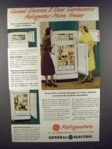 1948 G.E. Combination Refrigerator-Home Freezer Ad! - $14.99