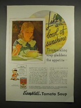 1935 Campbell's Tomato Soup Ad - Bowl of Sunshine - $14.99