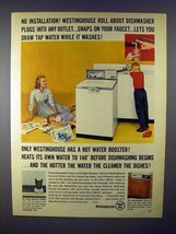 1960 Westinghouse Roll About Dishwasher Ad! - $14.99