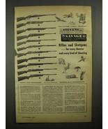 1948 Savage / Stevens Rifle Ad - Model 99, 745, 620 + - $14.99