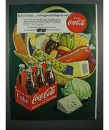 1951 Coca-Cola Coke Soda Ad - Good Things to Eat - $14.99