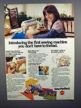 1977 Mattel Sew Perfect Sewing Machine Ad! - $14.99