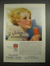 1935 Campbell's Tomato Juice Ad - Summer Breeze - $14.99