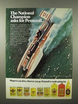 1975 Pennzoil Oil Ad - Pay 'n Pak Hydroplane Boat - $14.99