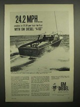 1961 GM Diesel 4-53 Engine Ad, Freeport 26 Fisherman - $14.99