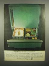 1965 Westinghouse Refrigerator Ad - Meat Market - $14.99