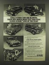 1976 Subaru GF Hardtop, DL Sedan, 4 Wheel Wagon Ad - $14.99