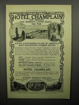 1908 Hotel Champlain Ad - Known Everywhere - $14.99