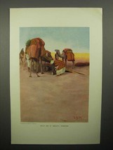 1908 Illustration by Lawren S. Harris - Camels, Desert - $14.99