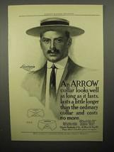 1908 Arrow Shirt Collar Ad - Lusitania, Aurania, Amolek - $14.99
