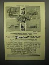 1908 Standard Plumbing Fixtures Ad - Healthful - $14.99