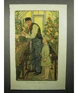 1908 Illustration by Elizabeth Shippen Green - Florist - $14.99