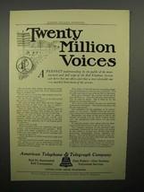 1908 AT&T Telephone Ad - Twenty Million Voices - $14.99