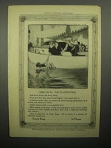 1908 Ivory Soap Ad - Come on In The Water's Fine - $14.99