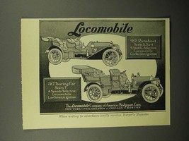 1908 Locomobile 40 Runabout, 40 Touring Car Ad! - $14.99