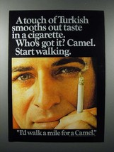 1970 Camel Cigarette Ad - A Touch of Turkish - $14.99