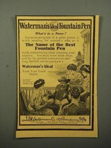 1908 Waterman's Ideal Fountain Pen Ad - General Wright - $14.99
