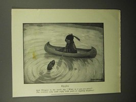 1908 Illustration by Peter Newell - Indian, Ripples - $14.99