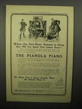 1908 Aeolian Pianola Piano Ad - Leisure Hours - $14.99