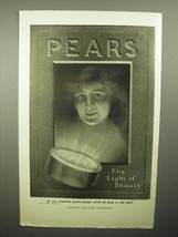 1908 Pears Soap Ad - The Light of Beauty - $14.99