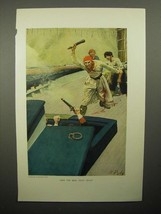 1908 Illustration by Howard Pyle - Sailors - Then Real Fight Began - $14.99