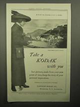 1913 Kodak Camera Ad - Take a Kodak With You - $14.99