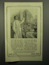 1913 Ivory Soap Ad - In Laboratory Practice - $14.99