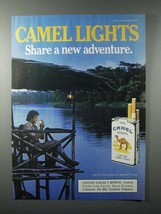 1987 Camel Lights Cigarette Ad - Share a New Adventure - $14.99