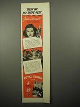 1941 Royal Crown Cola Soda Ad - Joan Bennett - $14.99