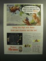 1944 Borden's Hemo Drink Ad - Beulah's got Plenty of Push - $14.99