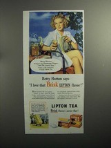 1944 Lipton Tea Ad w/ Betty Hutton - $14.99