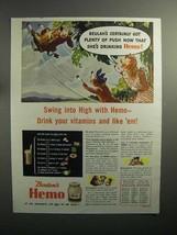 1944 Borden's Hemo Drink Ad - Elsie, Beulah - $14.99