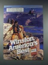 1985 Winston Filters Cigarette Ad - America's Best - $14.99