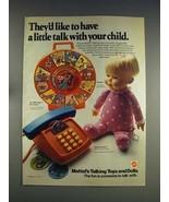 1974 Mattel Drowsy Doll, Alphabet Phone Toy Ad - $14.99