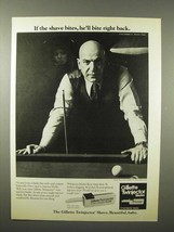 1975 Gillette Twinjector Blades Ad - Telly Savalas - Bite Back - $14.99
