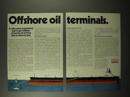 1975 Exxon Oil Ad - Offshore Oil Terminals - $14.99