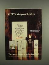 1975 Zippo Cigarette Lighter Ad - Windproof - $14.99