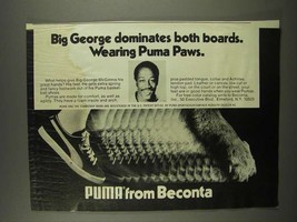 1975 Puma Shoes Ad - Big George McGinnis - $14.99