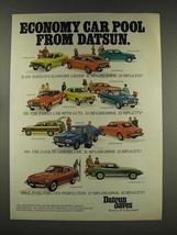 1976 Datsun B-210, 710, 610, 280-Z Car Ad - $14.99