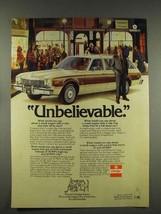1976 Dodge Aspen Wagon Ad - Unbelievable - $14.99