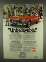 1976 Dodge Aspen Car Ad- Unbelievable - $14.99